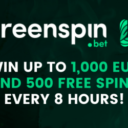 Win up to €1,000 in the GreenSpin Casino Lottery