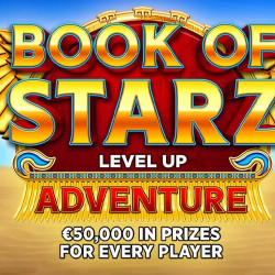 Book of Starz Level Up Adventure by Bitstarz: €50,000 Up for Grabs