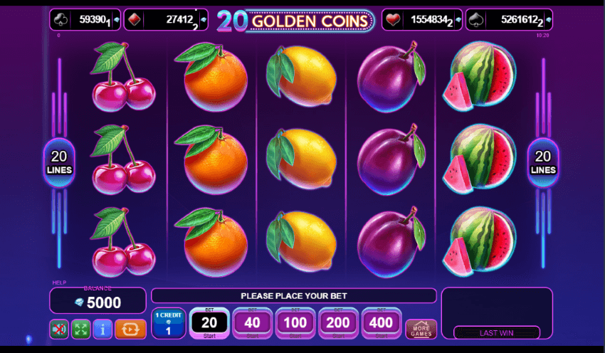 20 Golden Coins by EGT