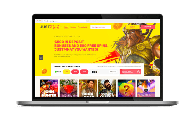 Justspin Website